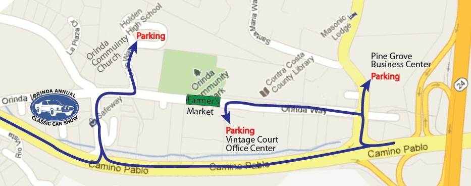 2012 Orinda Classic Car Show Parking Guide